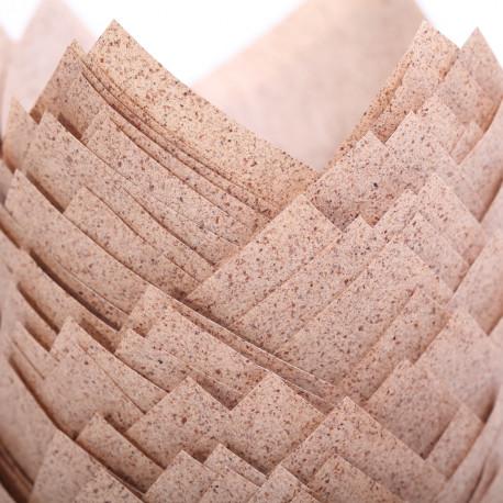 Tulip muffin cups Cacao papier - Ø bodem 5 cm - 48 stuks