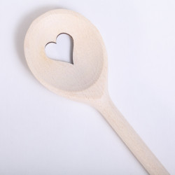 Wooden Spoon with Heart- round