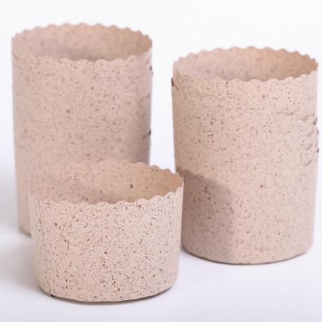 Baking Cups Panettone Mini Cacao Ø7 x H6 cm