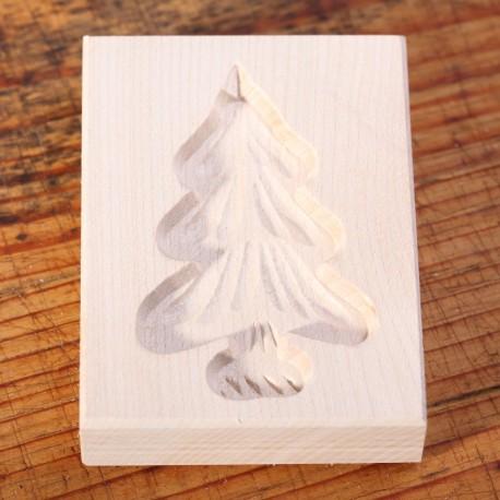 Cookie mold Christmas Tree maple wood