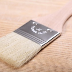 Pastry brush with beechwood handle large - 5 cm