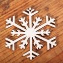 Houten sjabloon Sneeuwvlok