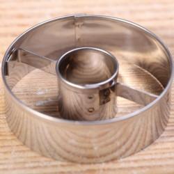 Koekjes uitsteekvormpje -  Cirkel met hart 4.7 cm