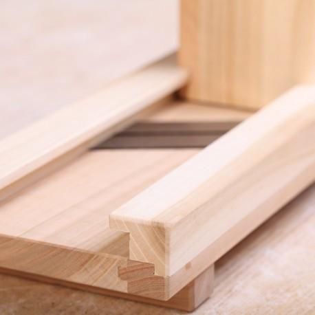 Handgemaakte Schaver massief hout pruim en kers