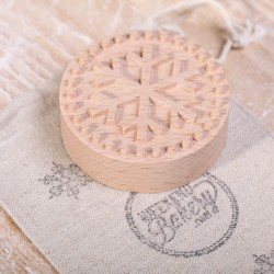 Cookie Stamp - Snowflake steamed beech wood
