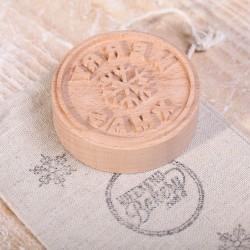 Koekstempel - Merry Xmas gestoomd beuken