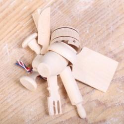 Houten bak-miniaturen