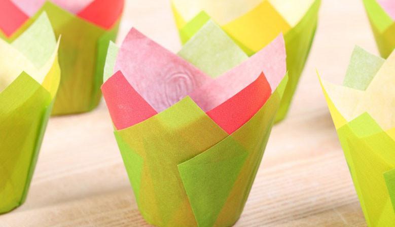 Tulip muffin cups Bollenveld mix