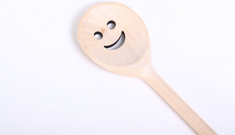 Wooden Spoon with smiley face