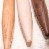 Proud of new products in our webshop like these beautifull handmade cherry, walnut and maple rolling pins