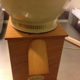 Our new (second hand, thank you Menno!) grain mill: it is soooo cute
