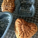 Gingerbread in cake molds, including the lovely owl and of course a heart