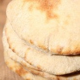 Sourdough pita - it's a versatile and firm favorite flatbread