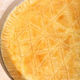 Dutch favorite ' boterkoek' - a pie with...you guessed it, lots of butter!
