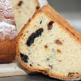 My first Kugelhopf - filled with cherries and raisins soaked in rum