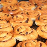 We made several batches of Kanelsnurrer and also these cinnamon buns with raisins inspired by Hairy Bikers visit to Lom Bakeriet in Norway.