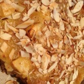 Developing new holiday season recipes: speculaas almond apple cake with...