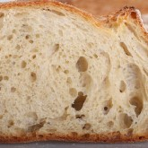 The crumb is moist and sweet