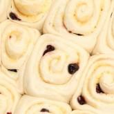 Cherry and almond cream buns