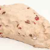 Old friends raisin bread : stretching and folding the dough