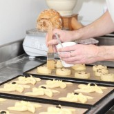 Pain aux raisins and pinwheels egg wash
