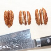 Make stems from pecan nuts