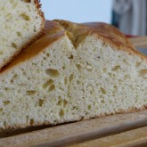 Mia -no knead brioche: ghee in plaats van boter - ghee used instead of butter