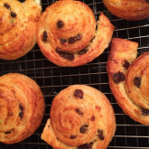 Elizabeth - Pain au Raisin - I used WKB croissant dough and pastry cream recipes and shaped as Pain Au Raisin for my family at Christmas. They were perfect! I froze them and they were delicious just thawed at room temperature.