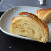 Hanna - My first croissants according to your recipe - I found you by polish website www:gotujebolubi.pl. I red many receips but I decided to use yours. The video convinced my finally. That was 3 days excitment and very nice work. I followed the process exactly step by step also with measure :).The result suprised me very much!!!