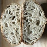Stefano Ferro Sourdough bread (95% white high protein flour - 5% spelt flour), rye starter, cold proofing (16 hours)