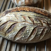 Stefano Ferro Sourdough bread (95% white high protein flour - 5% spelt flour), rye starter, cold proofing (16 hours)