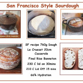David Dixon - WKB SF sourdough recipe using casserole pot