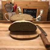 Jeanette Gates - Now My favorite whole wheat bread! Great with ham or jam.