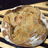 Marilyn -  Pain Naturel - I used one month old whole wheat sourdough starter. This is my first sourdough pain naturel bread.
