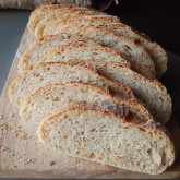 Dini - Semolina Sesame Bread made with half bread flour and half T55 flour