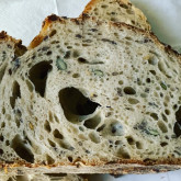 Stefano Ferro - Sourdough pain naturel bread with flax and pumpkin seeds