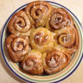 Ted - Cinnamon buns made with no-knead brioche