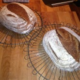 Henk Verhaar - First loaves using new bannetons - hybrid sourdough/(instant) yeast bread