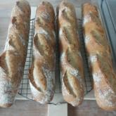 Joost den Ouden -  Stokbrood en baguetteboulle, Rustique en Rustique met zaden, mini sourdough boulle