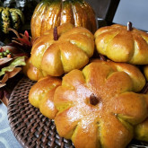 Jacqueline Bitting - Pumpkin buns - The recipe used is Pumpkin buns with salted maple butter. After making these Pumpkin buns the first time I knew this recipe was a keeper. They come out great every time and are wonderful toasted also. A family favorite for sure!