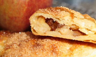 Dutch 'Appelflappen' with home made rough puff pastry