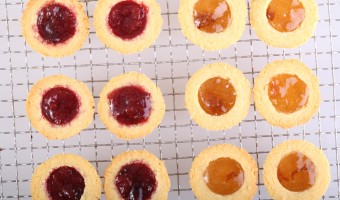 Delicate Jam Filled Almond Shortbreads