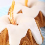 Almond & Orange Baby Bundt Cakes with Mandarin Icing
