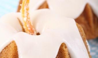 Almond & Orange Baby Bundt Cakes with Mandarin Icing